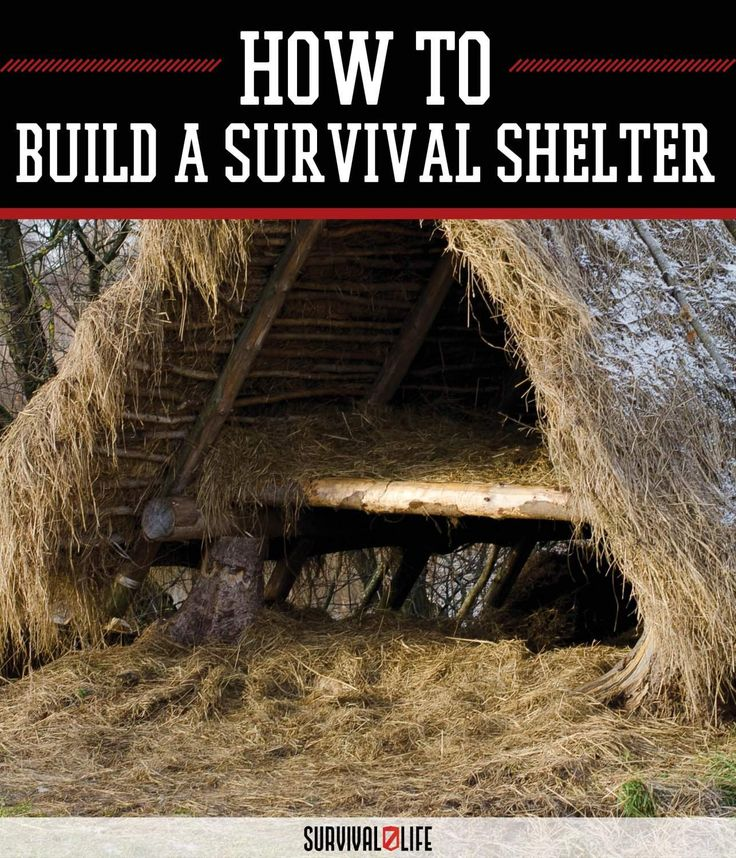 A survival shelter can save your life in case you bugged out when SHTF. If you don't have a bugout cabin, then start building a shelter right away.