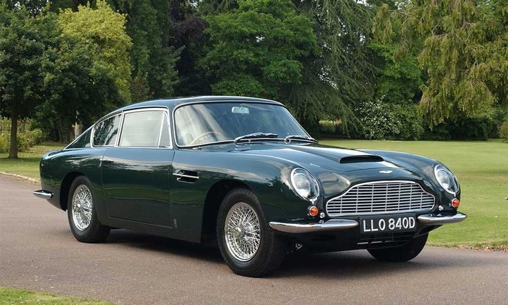 Aston Martin exhibits at the London Classic Car Show