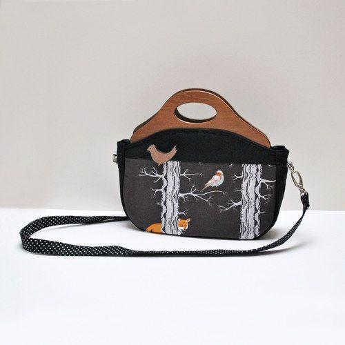 Zipová kabelka...Sen-Noc-Liška a pták * KikiBike