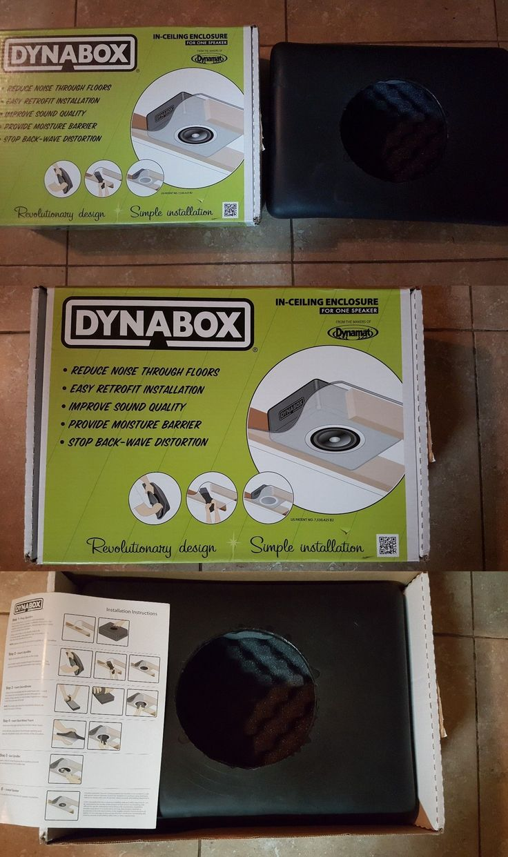 Speaker Mounts and Stands: Genuine New Dynamat 50306 Dynabox Speaker Enclosure For In Ceiling Speakers -> BUY IT NOW ONLY: $74.99 on eBay!
