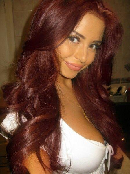 Deep Red hair   Demi Rose Mawby- deep cherry red hair