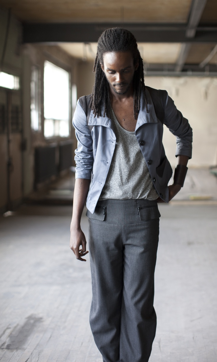 Blazer – Cokluch  Pants – Ludique (Christian Chenail). The SWAP Team's Spring/Summer 2012  Look Book with Kim Ninkuru, @FakionIshon of http://www.fakionishon.com/