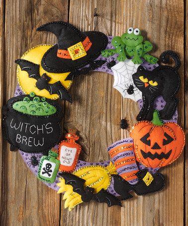 Look what I found on #zulily! 'Witch's Brew' Felt Wreath Craft Kit #zulilyfinds