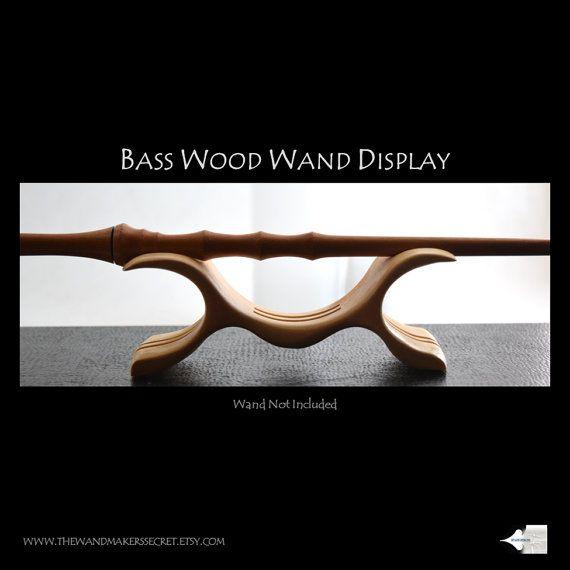 Bass Wood Wand Display Set, Magic Wand display, wand stand, harry potter wand, wooden wands