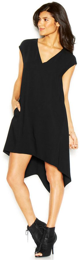 Rachel Roy RACHEL Sydney Dress Cap-Sleeve V-Neck Sheath Dress