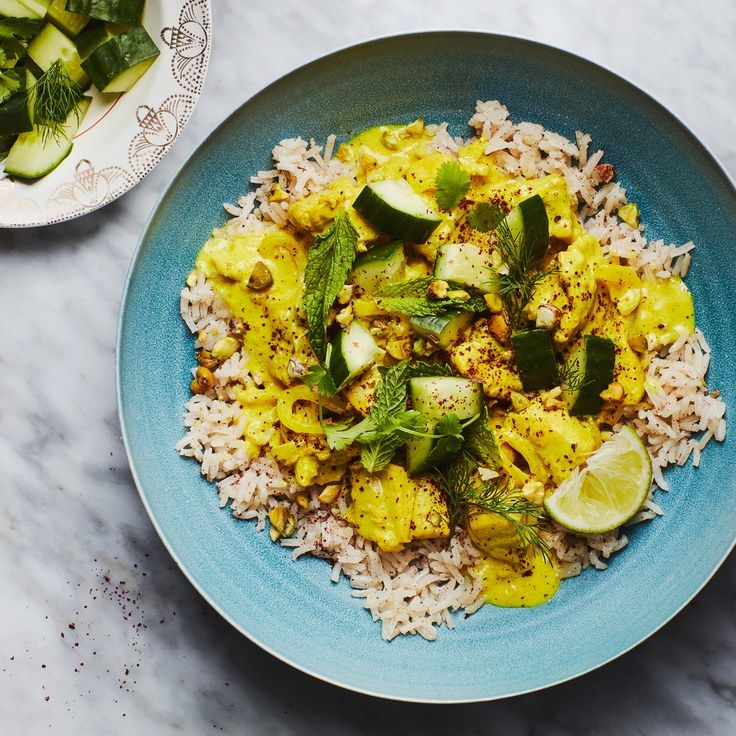 Persian Chicken with Turmeric and Lime