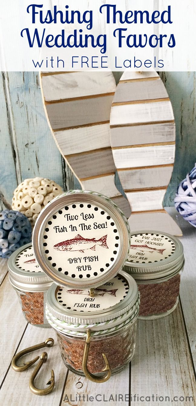 Fishing Themed Wedding Favors Cajun Spice Fish Rub with free Printable Labels
