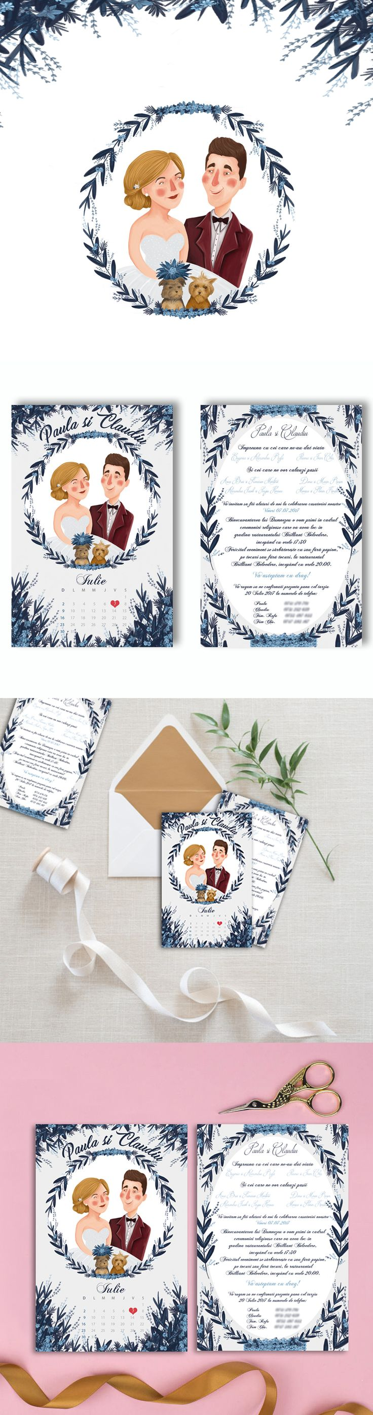 "Check out my @Behance project: ""Wedding invitations - Customized illustration"" https://www.behance.net/gallery/51596095/Wedding-invitations-Customized-illustration"