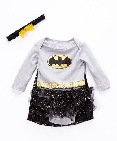 Another great find on #zulily! Gray Batman Tutu Bodysuit - Infant #zulilyfinds