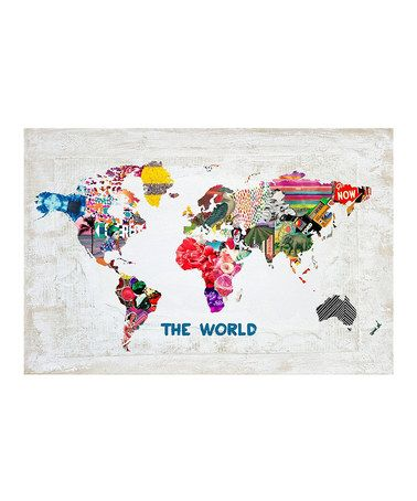 Look at this #zulilyfind! Oliver Gal 'Hipster Mapa Mundi' Art Print by Oliver Gal #zulilyfinds, $20 !!