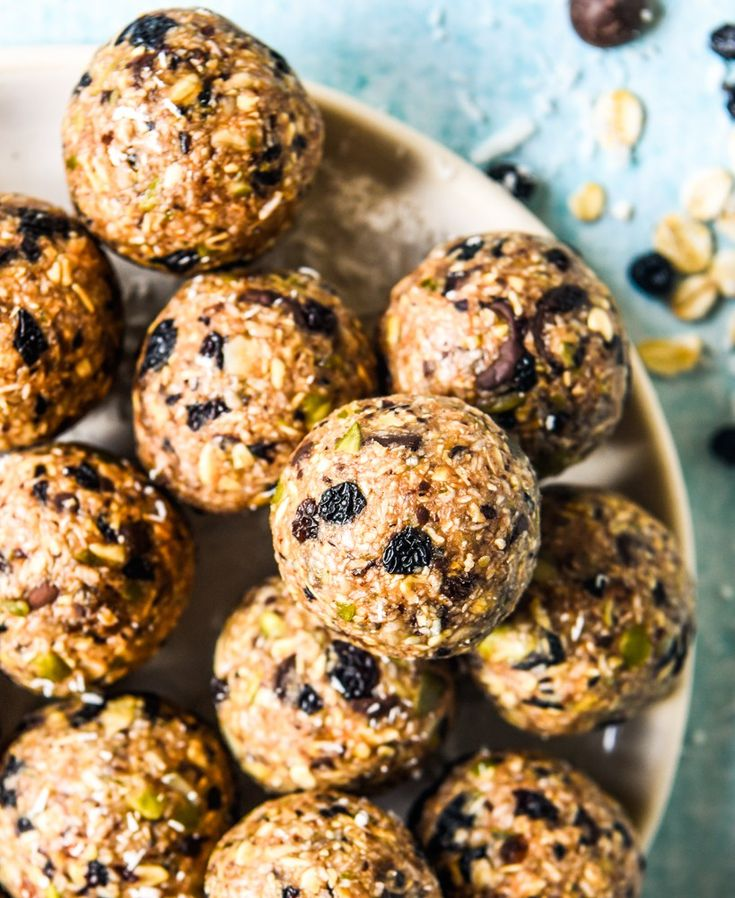Nut Free Muesli Balls With Thermomix Instructions.  So simple and delicious!  Free from dairy, eggs and refined sugar.  Enjoy!