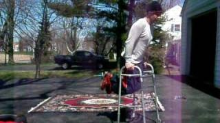 """Home made exercise machine to perform Dips. """"GET A MEDICAL WALKER"""""""