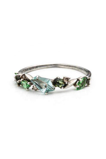 30 Dream Engagement Rings For The Anti-Diamond Girl #refinery29  http://www.refinery29.com/engagement-rings-diamond-alternatives#slide19