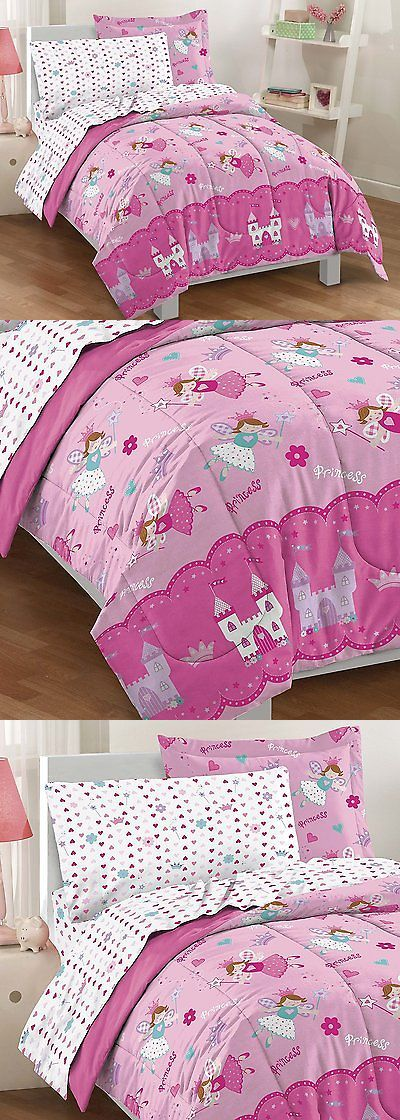Comforters and Sets 66728: Twin Size Comforter Set 5 Piece Girls Bed In A Bag Kids Bedding Princess Pink -> BUY IT NOW ONLY: $38.23 on eBay!