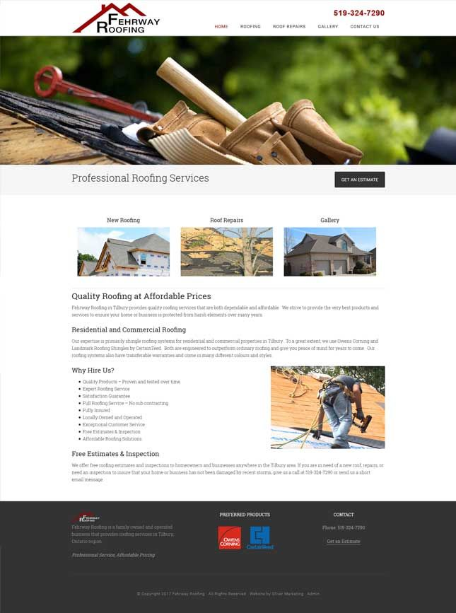 Fehrway Roofing - family-owned and operated.