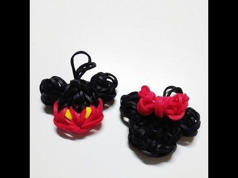 EASY Rainbow Loom Disney Fab Five Mini Charms | Mickey, Minnie, Goofy, Donald, & Pluto - YouTube