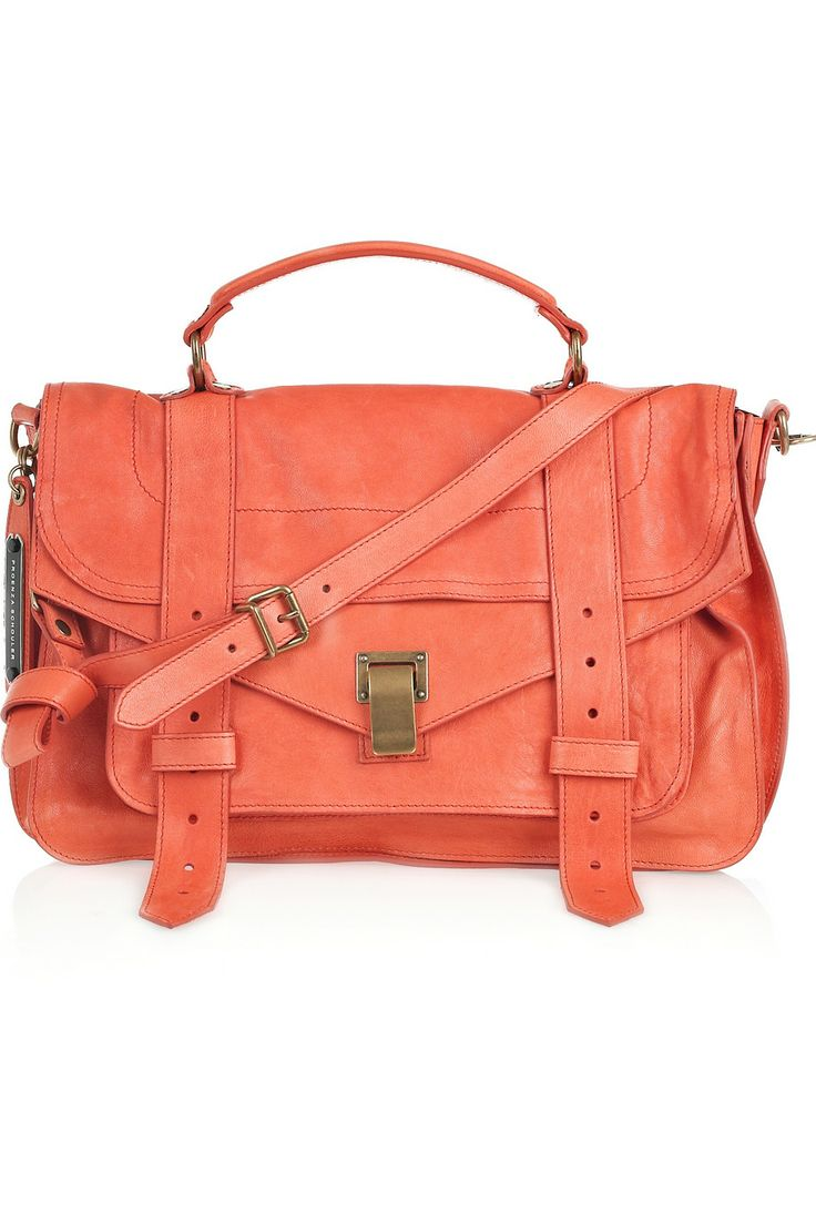 I wil take one pleaseLeather Satchel, Proenza Schouler, Fashion, Style, Colors, Coral Bags, Ps1 Medium, Accessories, Schouler Ps1