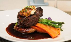 Groupon - Three-Course Upscale Seasonal Dinner for Two or Four at Arriba Restaurant (Up to 47% Off) in Renaissance Toronto Downtown Hotel. Groupon deal price: C$69