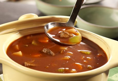 Are you craving a mouthwatering bowl of homemade soup? Try this smart recipe thatuses vegetable juice and beef broth to give you a flavorful soup that's ready just about an hour.