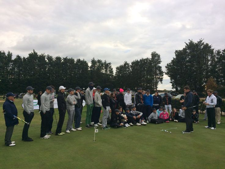 Faldo Series @FaldoSeries  East, England Big thanks to @TPKGolf for keeping our finalists putting strokes on the straight and narrow! @RandA Paul Baxter taking in a few tips too!
