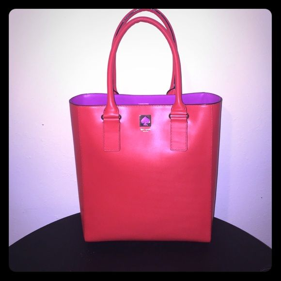 Price!!!!!! Kate spade tote bag Pink and orange Kate spade tote bag. NWT. kate spade Bags Totes