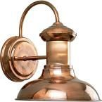 Progress Lighting Brookside Collection 1-Light Copper Wall Lantern P5721-14 at The Home Depot - Mobile