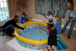 Fishy Birthday Party_? Definitely different, with plenty of inside activities. Maybe- just maybe.