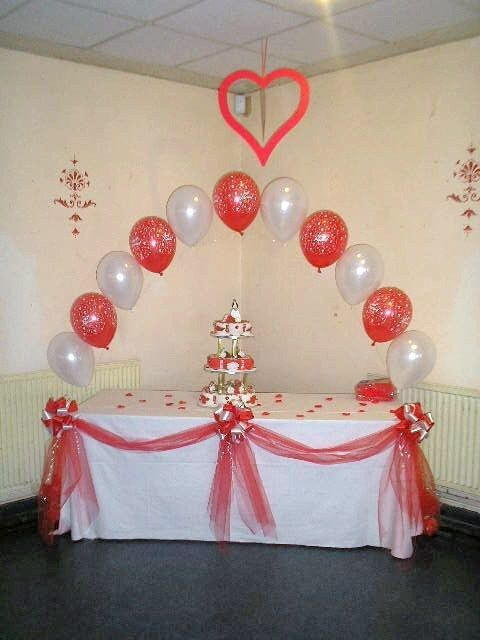Good Anniversary Decoration Ideas Home Part - 7: Wedding Anniversary 25th 30th 40th 50th 60th Table Decorating Bows U0026 Swags