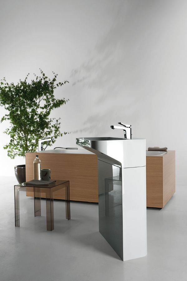 LAB 02 #washbasin + GEO BOX #bathtub designed for Kos | #Palomba #bathroom #design