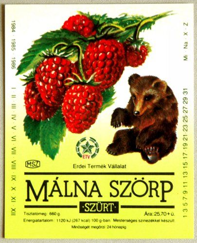 Hungarian raspberry syrup