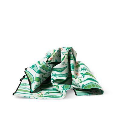 Deze erwten beschermen je met liefde tegen de koude en vochtige grond. Opvouwbaar kleed met kunststof onderkant.