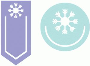Silhouette Online Store - View Design #51096: set of 2 snowflake paperclips