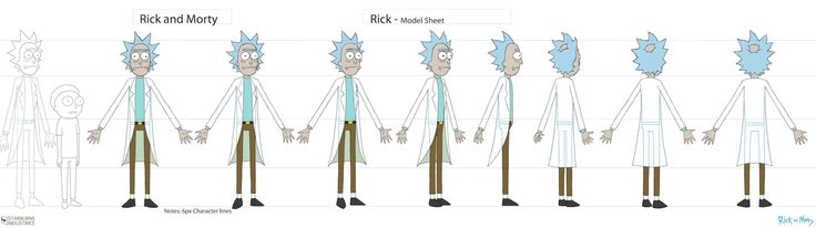 Character Design Requirements : Rick and morty storyboard guidelines models