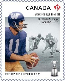2012 Canada Post one hundredth Grey Cup commemorative Winnipeg Blue Bomber…