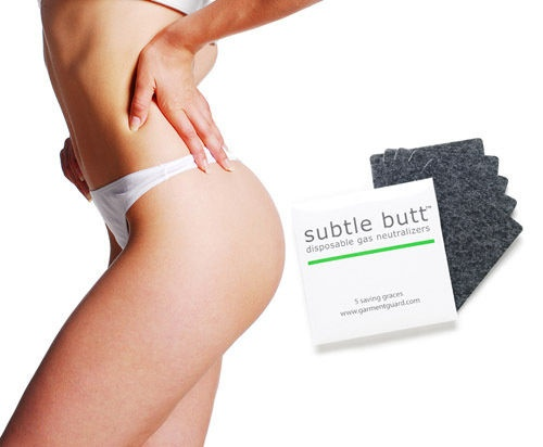 """What the .......?? Subtle Butt: A Subtle Butt package contains five """"fart pads"""" that you attach to your underwear. The pads have active carbon that's designed to filter the fart and alleviate the smell. - BAHAHAHA!!"""