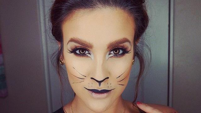 Maquillage d'Halloween félin - Look du jour