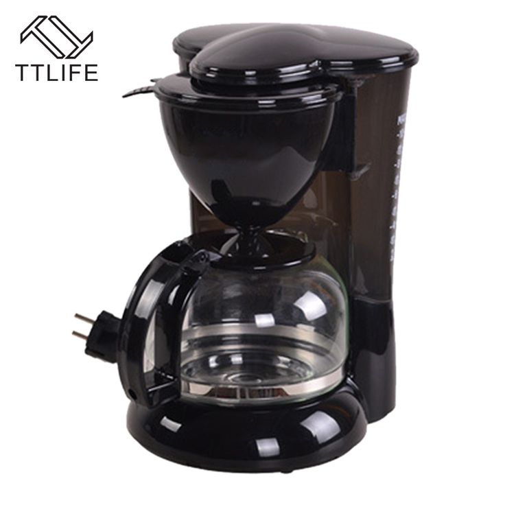 price tracker and history of ttlife black automatic coffee machine portable drip coffee maker cappuccino with milk steaming high quality italian coffee