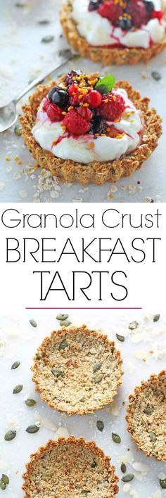 Liven up breakfast time with this recipe for Granola Crust Tart with Yogurt & Berries. Delicious AND healthy! | My Fussy Eater