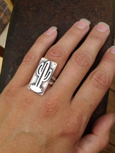Silo Silver Cactus Ring for sale