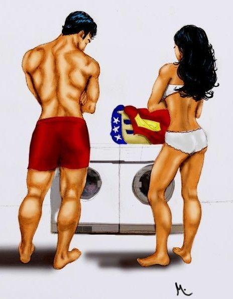 wonder woman and superman | SMWW-Laundry Day - Superman & Wonder Woman Fan Art (20519116) - Fanpop ...