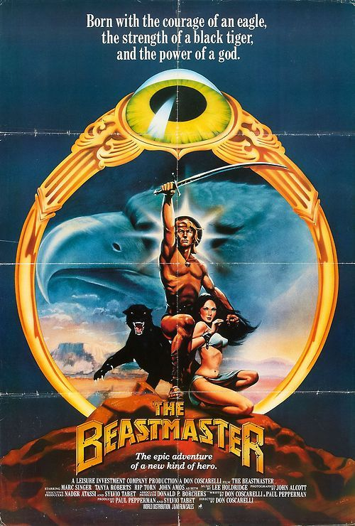 movie posters from the 80s movie posters fantasy action 80 s beastmaster sword and the. Black Bedroom Furniture Sets. Home Design Ideas
