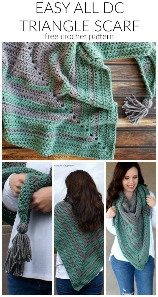 Fácil todo o teste padrão de Crochet do lenço do triângulo da CC