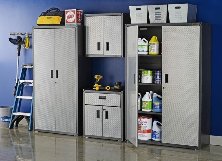 Reclaim the space in your garage. A durable, steel Gladiator cabinet provides heavy-duty storage for your tools and equipment.