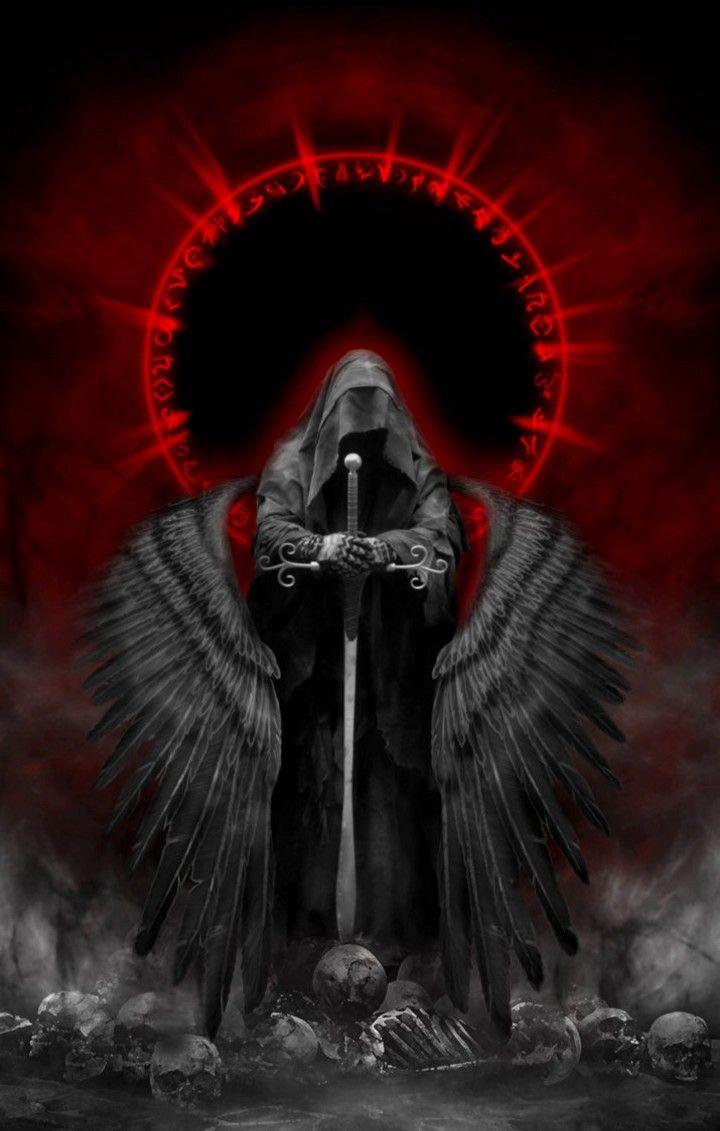 Dark Angel In 2019 Dark Fantasy Art Archangel Tattoo