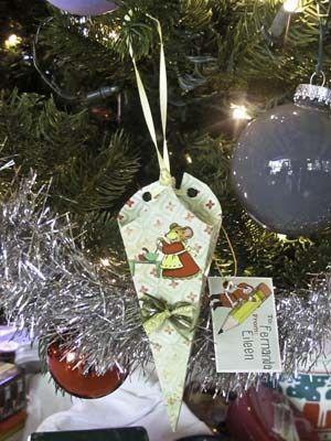 English Candy Cone Ornament