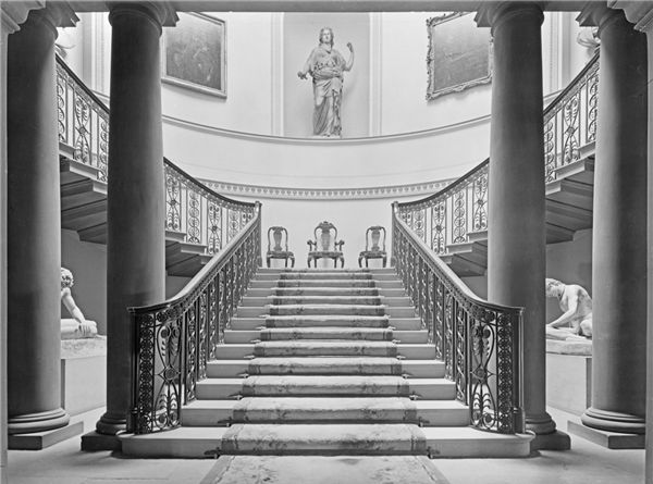 Pillared Hall Staircase Wentworth Woodhouse Manor