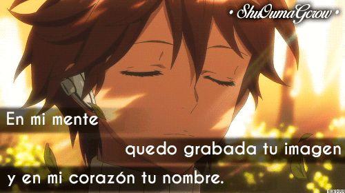 En mi mente #ShuOumaGcrow #Anime #Frases_anime #frases