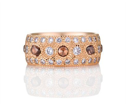 £7,850 Talisman Pink Gold Diamond Band