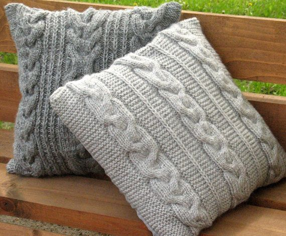 Throw Pillow Decorative Cushion Covers Hand knitted design