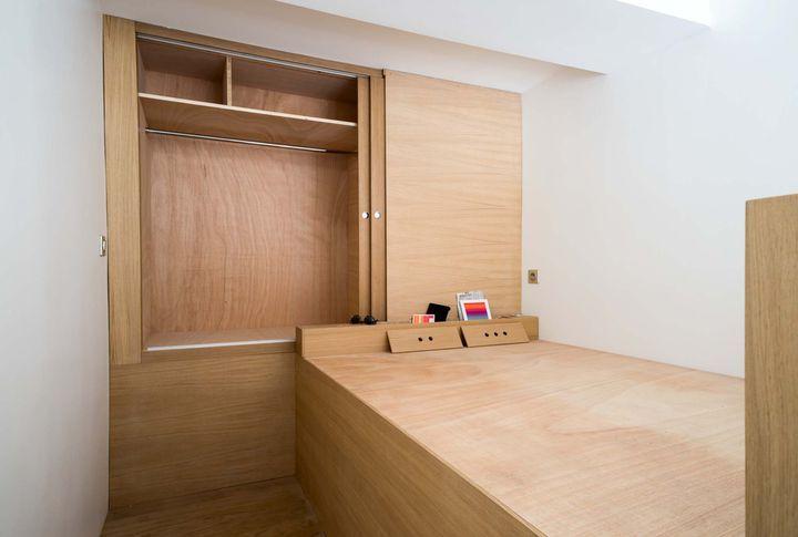 17 best images about am nagement d 39 espace on pinterest sliding shelves cubes and studios. Black Bedroom Furniture Sets. Home Design Ideas